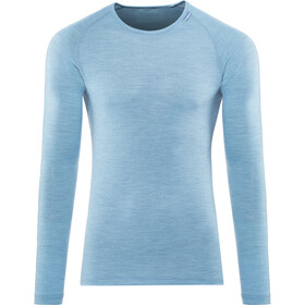 Woolpower Lite T-shirt manches longues à col ras-du-cou Homme, nordic blue